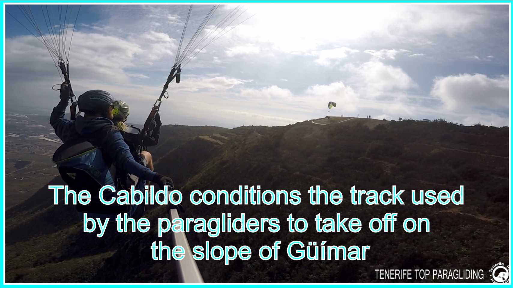 The Cabildo conditions the track used by the paragliders to take off on the slope of Güímar
